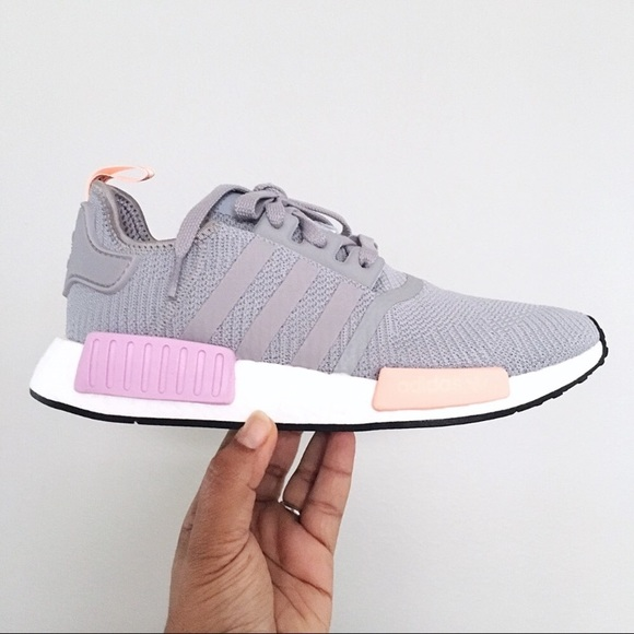 96a1fcb9024cb Women s Adidas NMD R1 Light Granite Gray